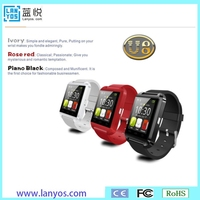 Popular plastic case medical and sport control health manage smart wrist watch U8