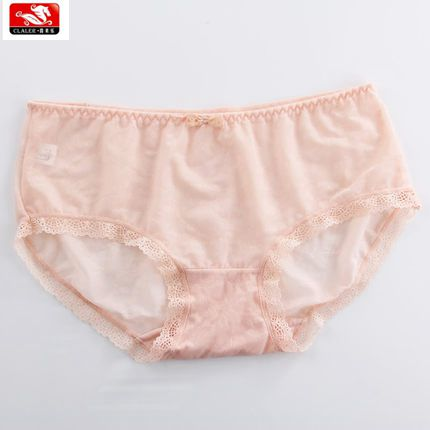 2016 lastest design sexy young girl underwear nylon/spandex lace panties transparent sheer lace panties for woman underwear