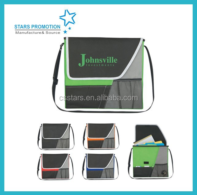 fashionable 600D polyester Messenger bag for conference