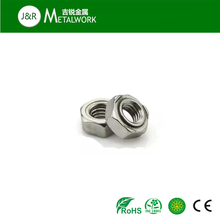 M10 anodized plated aluminum hex/hexagon weld nut DIN929