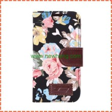 Cowboy Denim Jean + PU+TPU Flower Leather Case for Samsung S5 mini