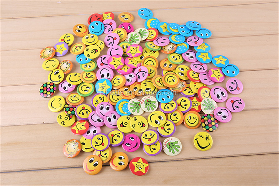 2016 different shape colorful tin badge custom  lapel pin with safety pin