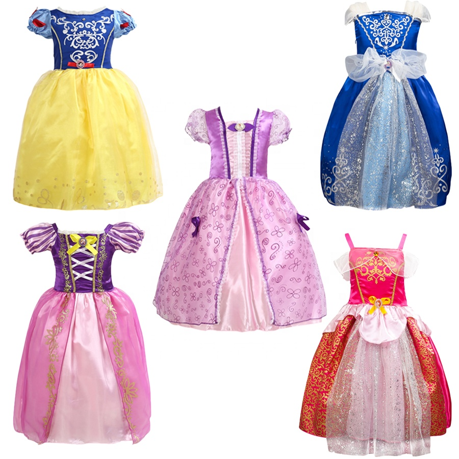 Cosplay Baby Girl Fancy Elsa Princess Dress Cinderella Kid Dress Party Rapunzel Princess Sofia Dress Halloween Children Costume