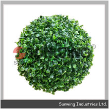 plastic artificial flower grass plant boxwood ball