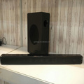 2.1 channel bluetooth sound bar with wireless subwoofer
