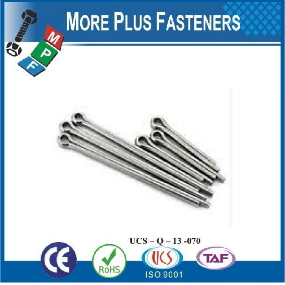Made in Taiwan DIN 94 Stainless Steel Split Cotter Pin ISO 1234 Splinte Cotter Pin