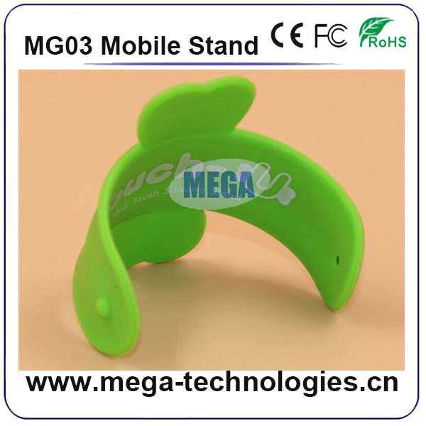 one-touch silicon mobile phone stand silicon stand for phone