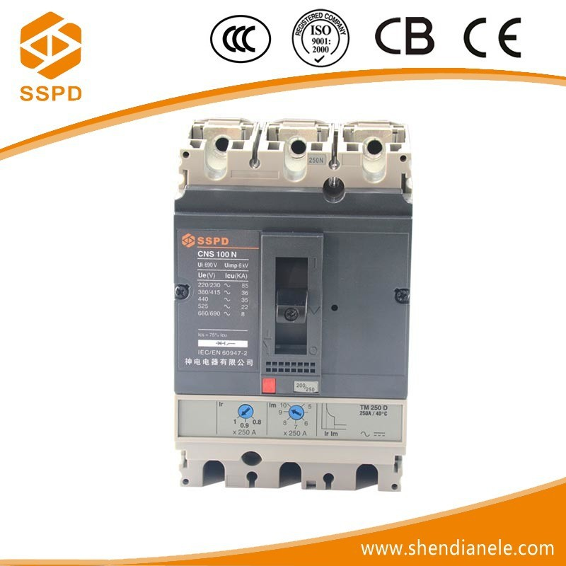 Good Quality miniature circuit breaker of NS 100A 3P Overload Protect mccb with earth leakage
