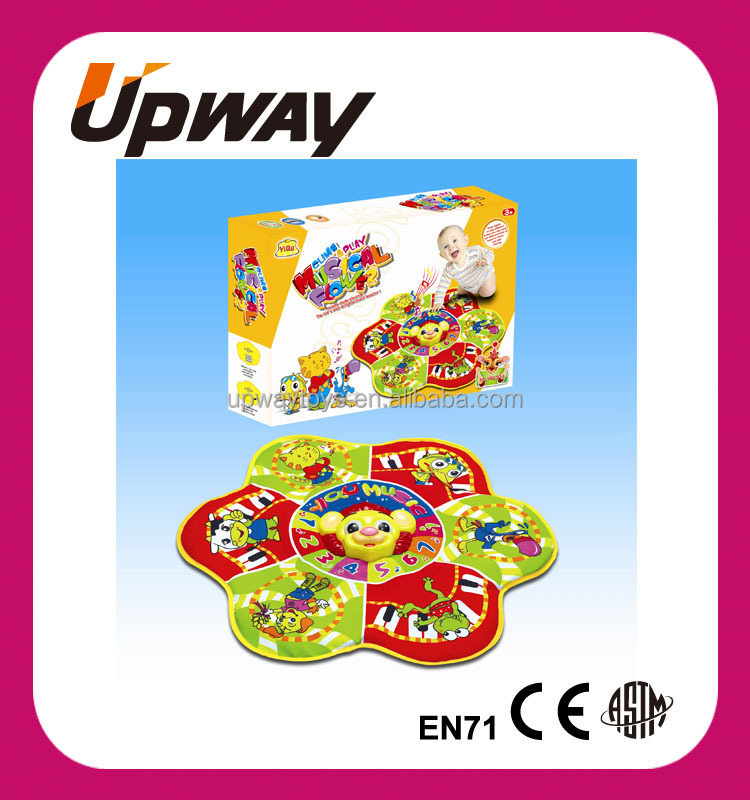 Flower Shape Cartoon Lion Baby Musical Carpet Musical Mat