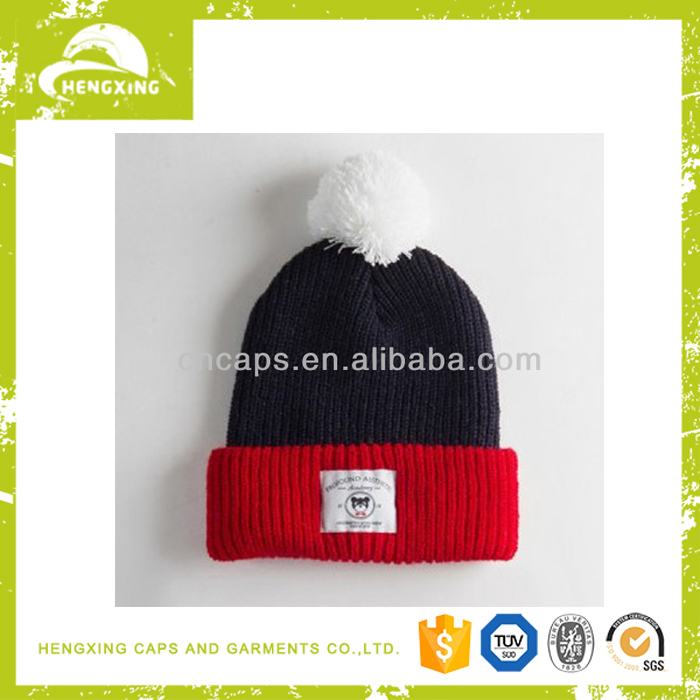 Baby beanie hat knitted pattern black beanie wholesale