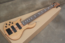 free shipping Factory 6 strings neck through one piece neck left handed bass guitar