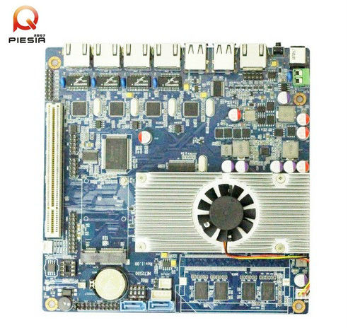 Fanless 4 lan card network appliance board with integrated processor intel Atom D2550 mini itx 4 Ethernet mainboard for Server