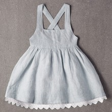 Wholesale children clothing baby dress pictures plain kid dress designer one piece dress