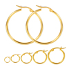 Stainless Steel Hoop Earring 18K Gold