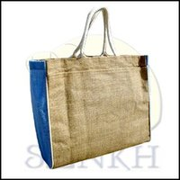 Natural blue color shopping bag