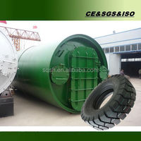 Overseas after-sales tire recycling machine with CE, ISO and BV