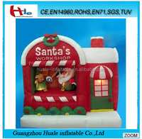 Christmas cheap inflatable santa's workshop for sale