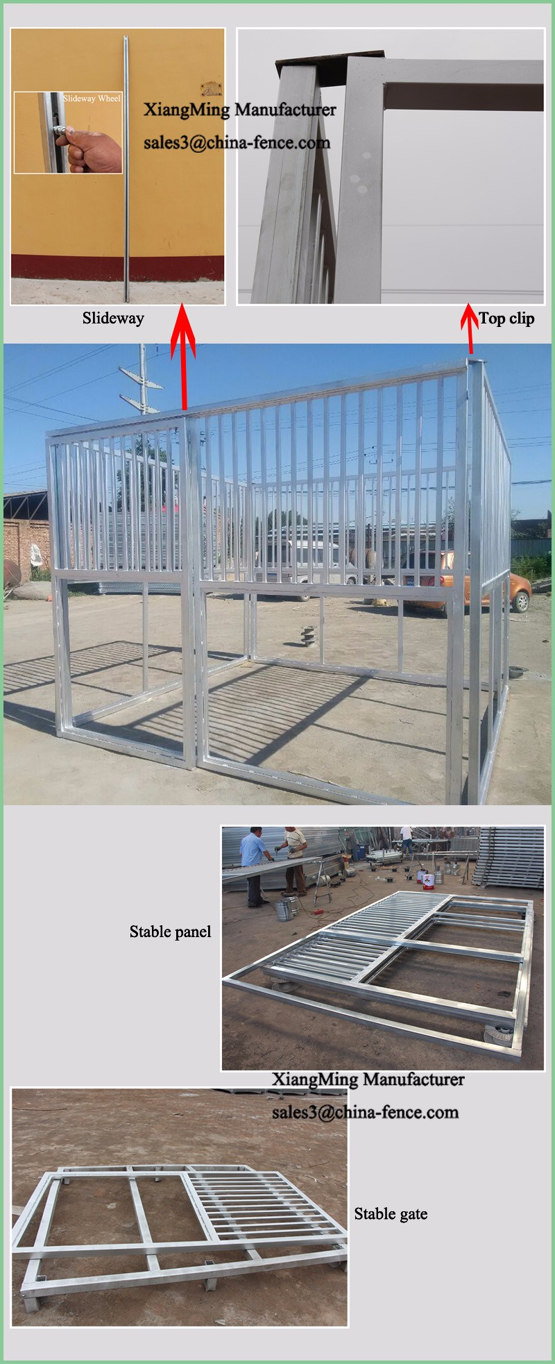 Hot sale horse fencing horse stable panels with front door panels
