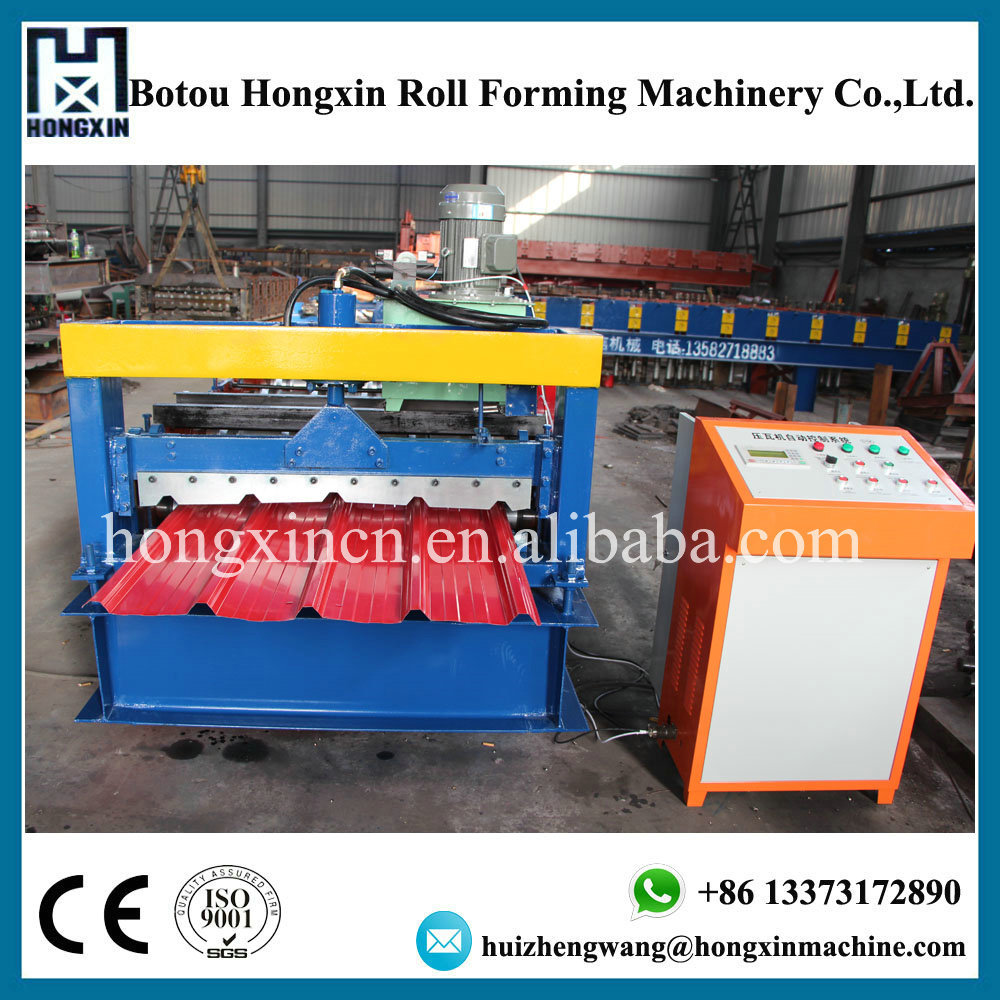 CE certificated galvanised steel roofing panel making machine/aluminum wall sheet roll forming machine