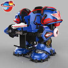 Chargeable amusement machine battle king / kids robot ride with anti collision function in theme park