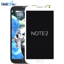 China Factory Cheap for samsung note 2 broken lcd recycle cracked screen and fractured display(with frame)