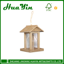 2017 new wooden hanging birds house