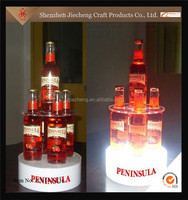 Wholesale bar rotating acrylic protective wine bottle display case