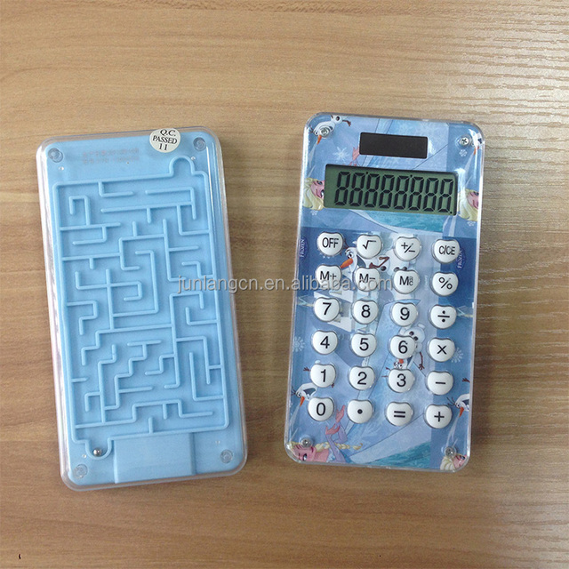 Portable Wire Rope Calculator with Maze Game Rubber Key Calculator