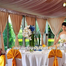 2017 Best-selling Glass Wall Wedding Tent with lining and Drapes