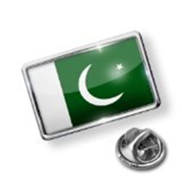 2017 High quality promotional Pakistan flag badge with map picture
