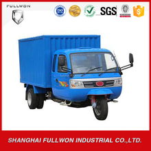 Hot sell cargo tricycle diesel engine with full cab/cargo box