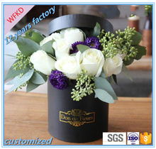 luxury engagement round flower packaging box with handle