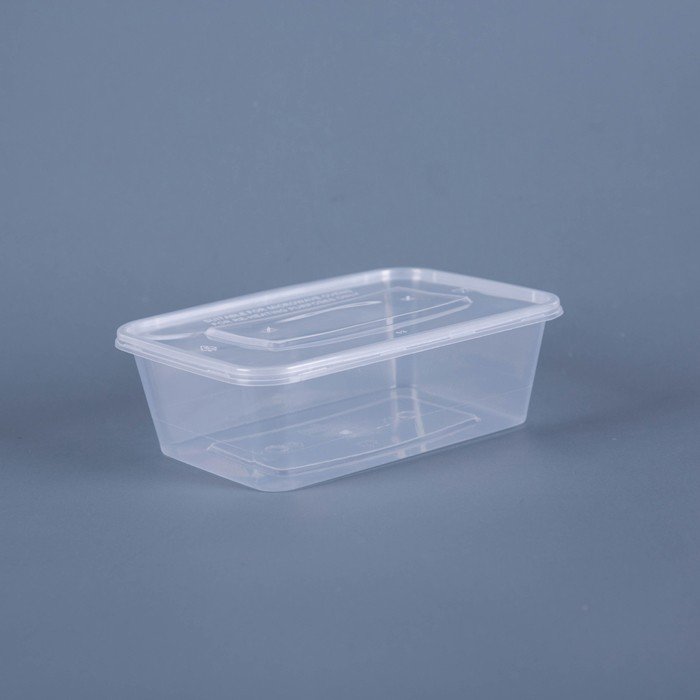 HD 650ml Clear Rectangular Disposable Plastic Food Containers