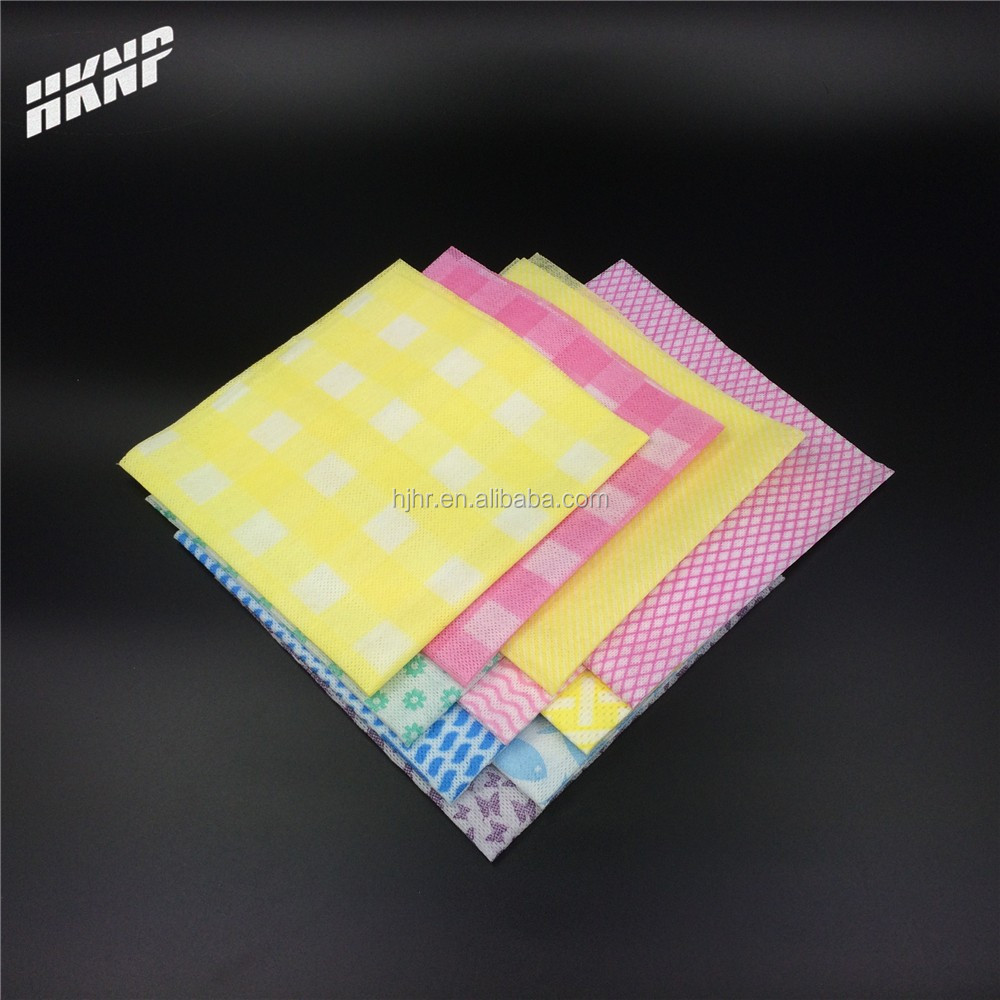 0149 dyed printed disposable spunlace nonwoven cleaning wipes kitchen mesh cleaning dry wipes