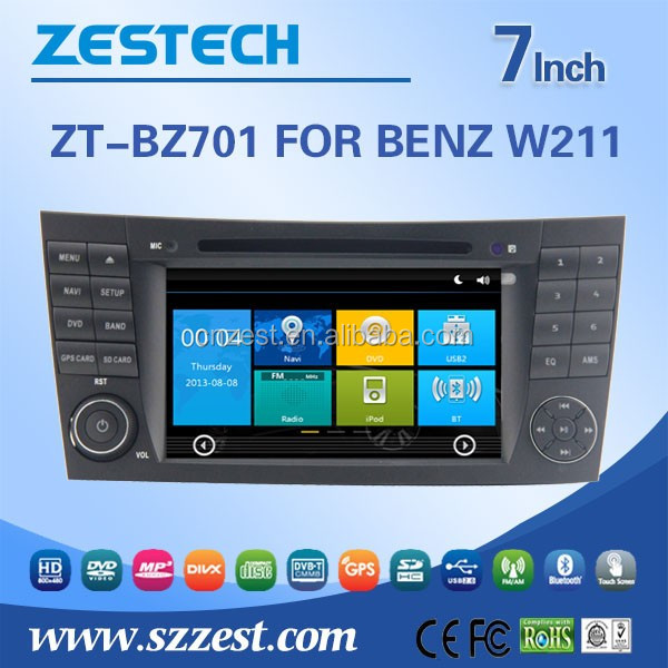 spare parts touch screen car dvd player with reversing camera for clk w209 car dvd player gps navigation system with AUX Radio
