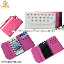 Brand New for iphone 5C case, for iphone 5C stud wallet case