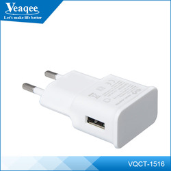 Veaqee For iphone 6 Travel Wall Charger with fixed Data Cable with EU/US Plug