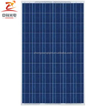 Yangzhou Zhongxiang 250 watt battery bank poly solar panel