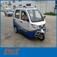 5 doors 3 seats closed cabin electric tricycle adults top quality