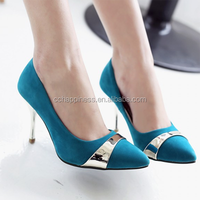Lady Suede Thin High Heel Pointed Low-cut Pump Workwear Shoes