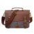 Wholesale canvas messenger bag for men and women,Vintage canvas real leather 14-inch Laptop Briefcase for everyday use