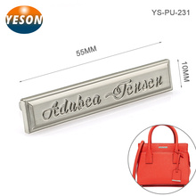 Brushed Surface Effect Custom Private Label Handbags Hardware