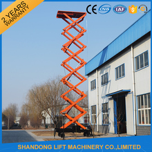 Portable adjustable hydraulic aerial folding work platform with 10m