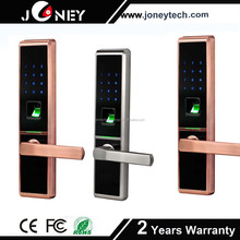 High quality Zinc Alloy Metal Casing Waterproof Biometric Fingerprint digital Door Lock