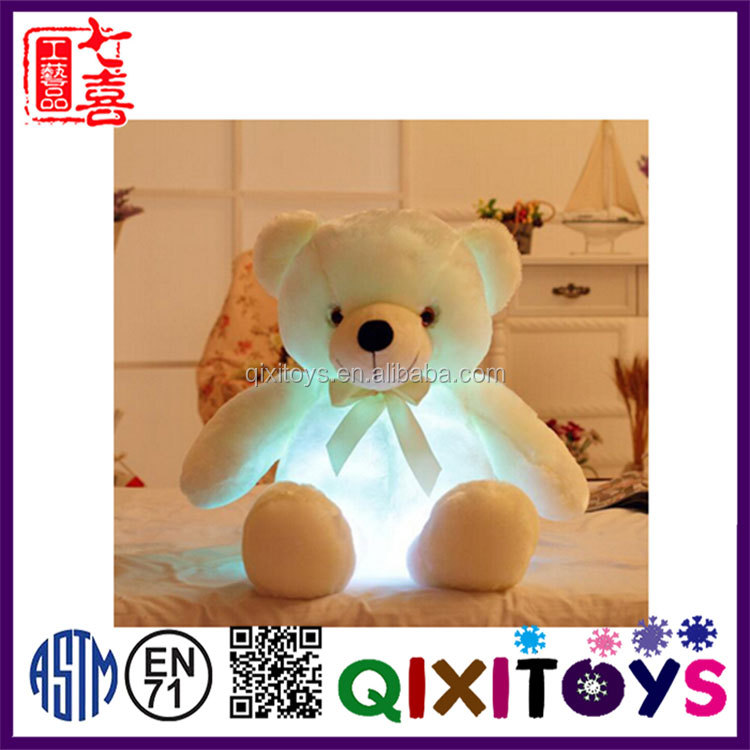 New designs funny gift animal plush toy led toys for kids Best sell festival teddy bear plush toys