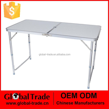 450111 4ft Adjustable Folding Lightweight aluminum Table outdoor With Portable Carrying Handle New