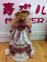 "16"" lovely Handmade Dress-up Ceramic doll"