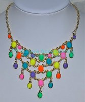 lord of the necklace with different types neon colors beads