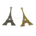 Fashion garment metal Eiffel Tower decoration pendant
