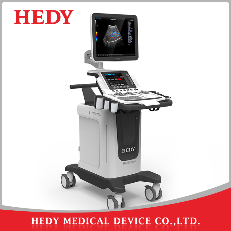 HEDY V60 Trolley medical colour doppler 4D ultrasound scanner machine with cardiac probe